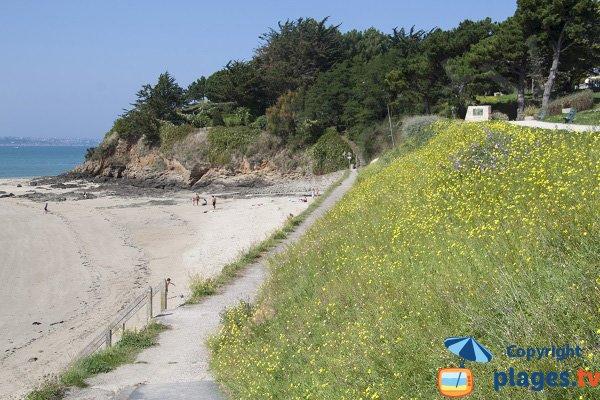Chemin le long de la plage de la Banche