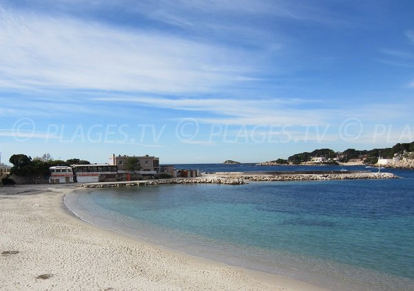 Bandol beach with it white sand