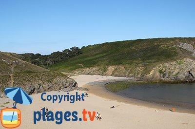 Beach in Bangor in Belle-Ile-en-Mer - Brittany