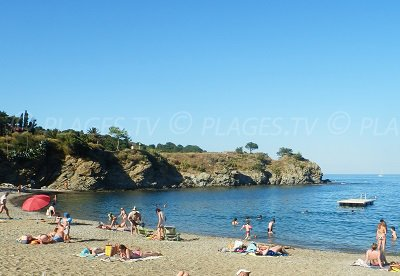 Beach in Banyuls sur Mer in France