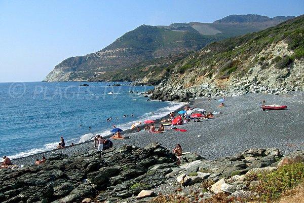 Foto della spiaggia di Baracaraggio a Nonza - Corsica