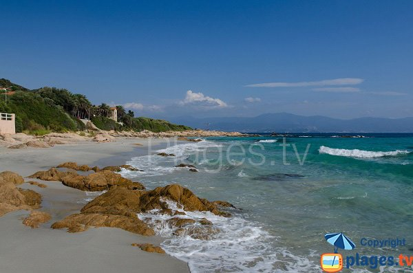 Rochers sur la plage de Barbicaja - Ajaccio