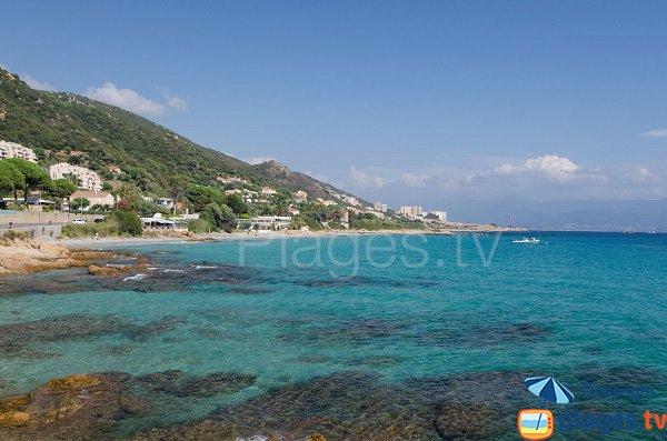 Photo de la plage de Barbicaja à Ajaccio