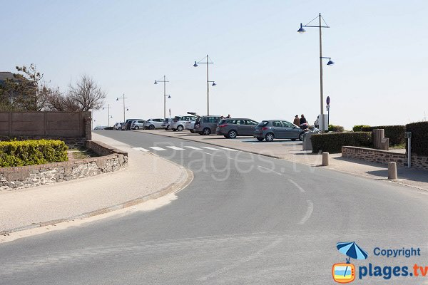 Parking of Barneville beach