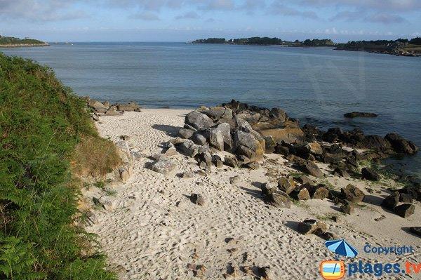 Criques de sable et de rochers à Guissény