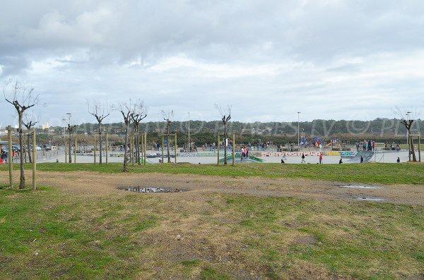 skate park of Anglet beach