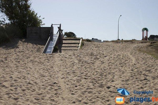 Accès de la plage du Bas Pouldu de Guidel