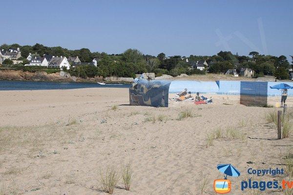Bunker sur la plage du Bas Pouldu - Guidel