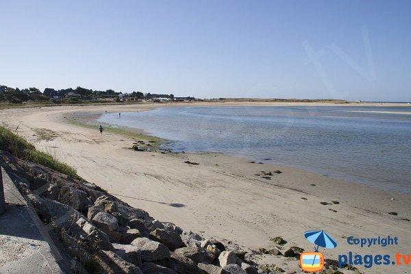Photo de la plage du Bas Pouldu de Guidel - 56
