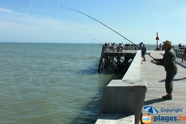 Pêche sur la digue de Saint Jean de Monts