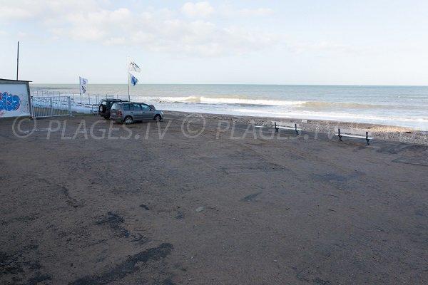 Parking of Nautical Center beach in Villers sur Mer
