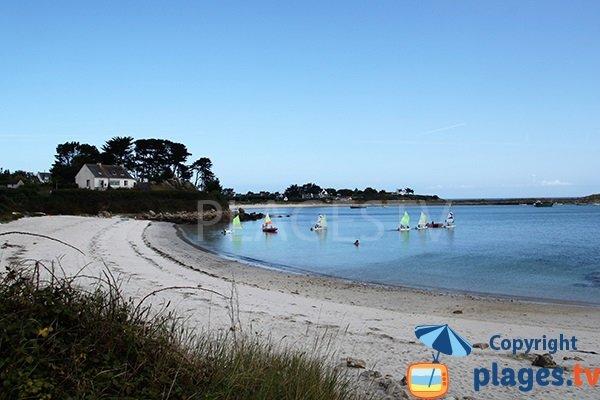 plage de Bassinig à Plouguerneau