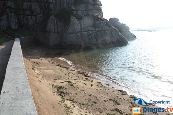 Beach in the rocks of Saint Guirec in Brittany