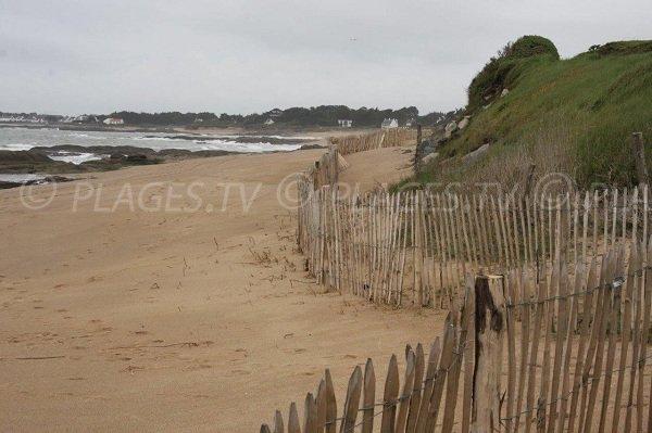 Beach near the campsite of La Turballe
