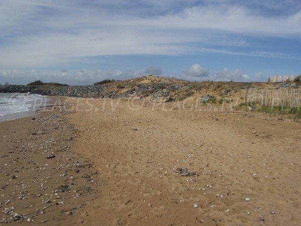Plage de la Pointe de l'Aiguillon en Vendée