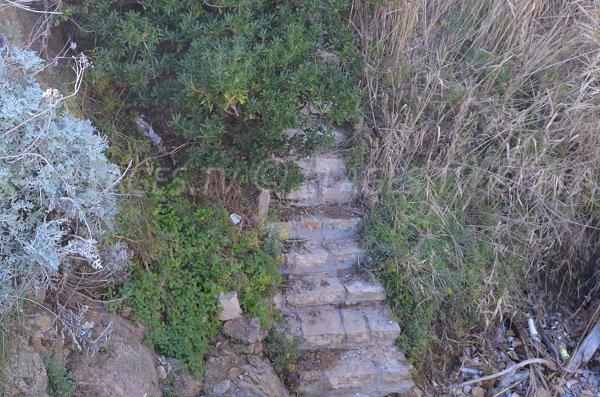 Escaliers pour la plage de la Batterie