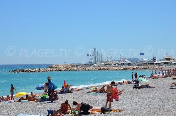 Beach near the port of Villeneuve-Loubet