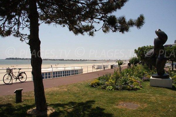 La Baule beach and view on Pouliguen - France