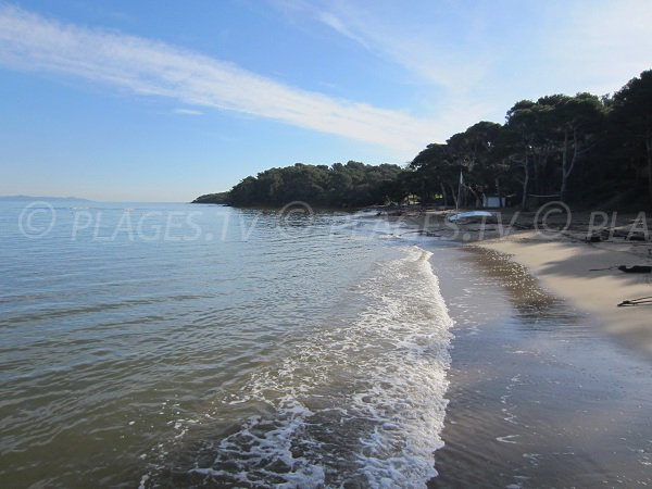 Baume beach on the peninsula of Giens in France