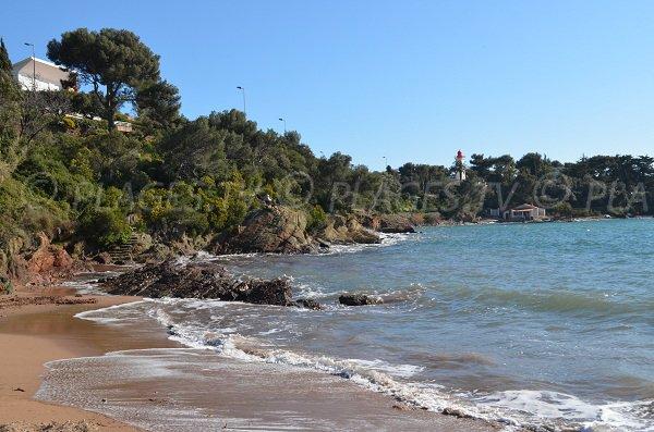 Baumette beach in St Raphael Agay