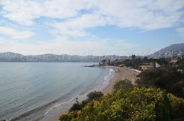 Photo de la plage de la Baumette à Agay