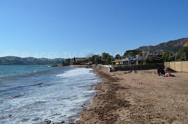 Baumette beach in Agay in France