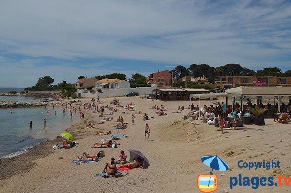 Photo de la plage des Baumettes à Sausset les Pins