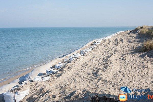 Plage nord de Gouville sur Mer à marée haute