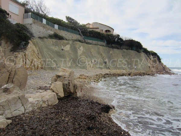 Spiaggia di Beaucours e falesia - Sanary sur Mer