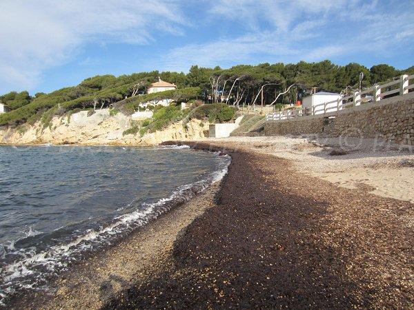 Spiaggia vicino campeggi di Sanary sur Mer
