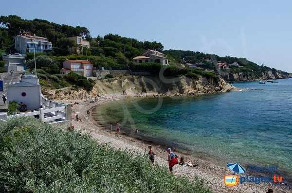 Beaucours beach, view on point of Cride - Sanary