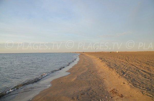 Spiaggia Beauduc verso Saintes Maries de la Mer