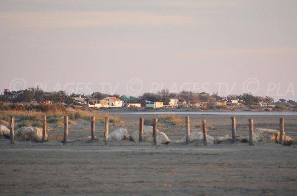 Huts on the Piemanson beach