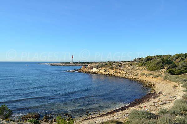 Beaumaderie beach in La Couronne - Martigues