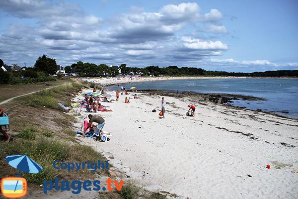 Belle plage de sable blanc à Carnac