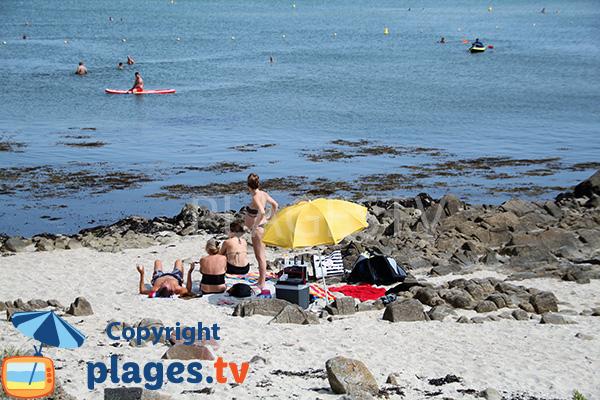 Rochers sur la plage de Beaumer - Carnac
