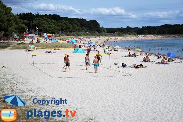Beach volley sur la plage de Beaumer