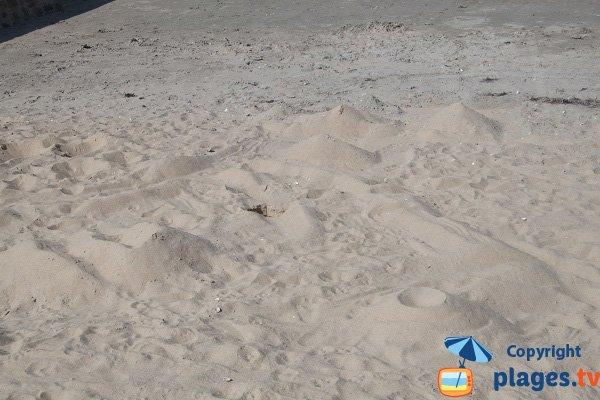 Sable sur la plage de la Beaussais