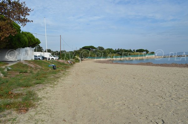 Sand beach of Beauvallon in Port Grimaud - France
