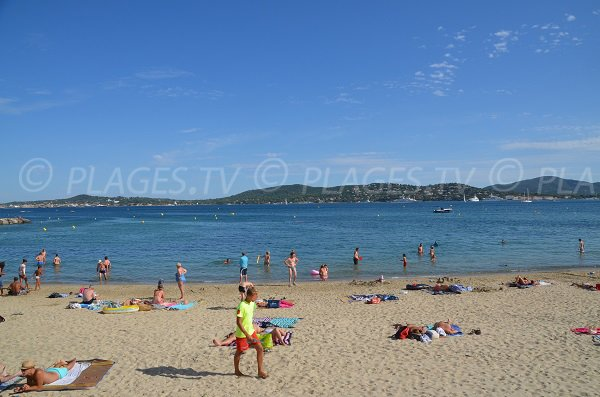 Beach in Grimaud in summer - Beauvallon