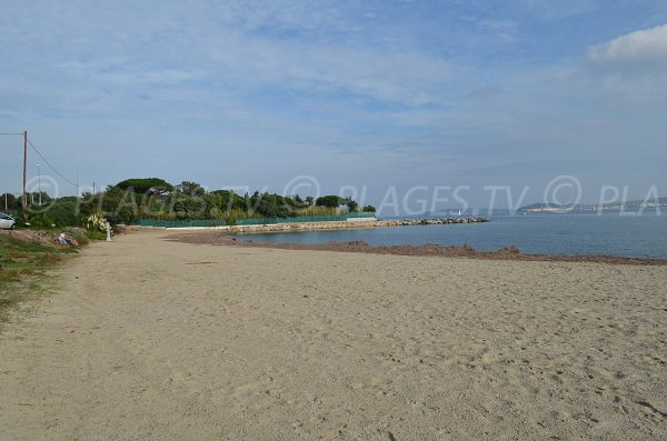 Beauvallon beach in Port Grimaud in winter