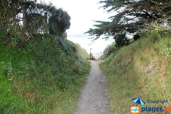 Sentier d'accès à la crique de Beg ar C'hastell - Guisseny