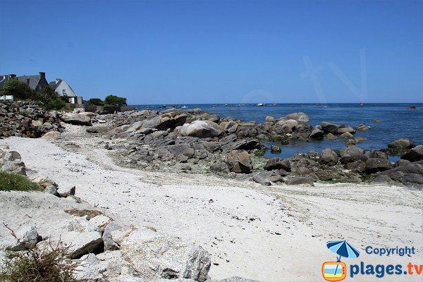Rochers de la plage de Beg ar Scarf
