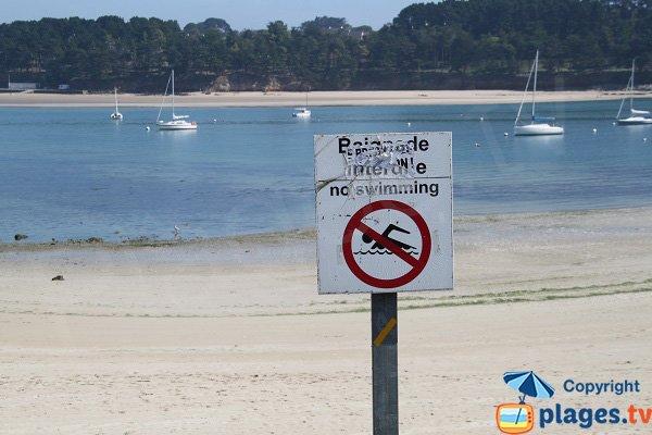 Baignade interdite dans le port de Beg Douar