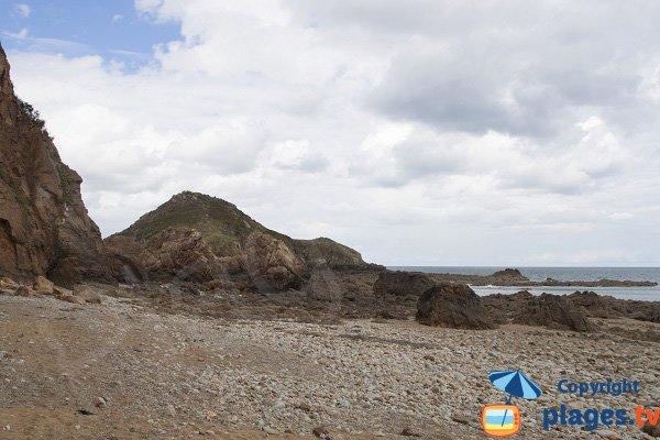 Wild beach in Plouha - Beg Hastel