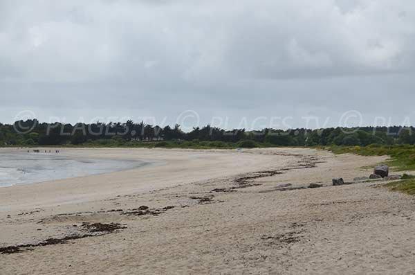 Plage au niveau de la pointe de Beg Lann - Morbihan (Sarzeau)