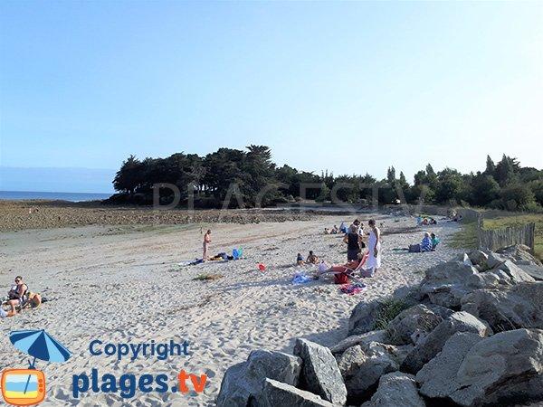 Rochers sur la plage de Beg Lann - Sarzeau