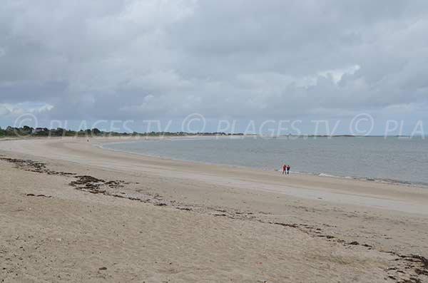 Plage de Beg Lann avec vue sur la plage de Suscinio - presqu'ile du Rhuys