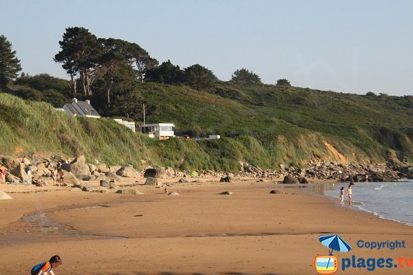 Photo of Goaslagorn beach in Lannion in France