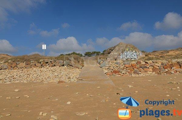 Accès à la plage de Belesbat - St Vincent sur Jard